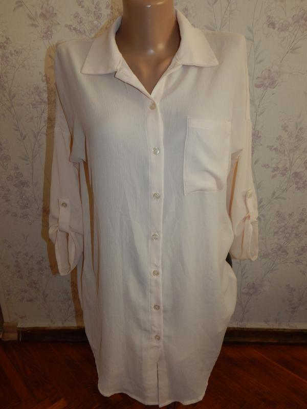 Love sun shine блузка-рубашка туника шифоновая стильная модная р8