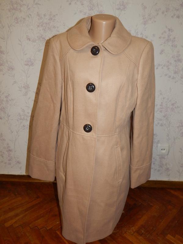George пальто демисезонное с карманами стильное модное р16