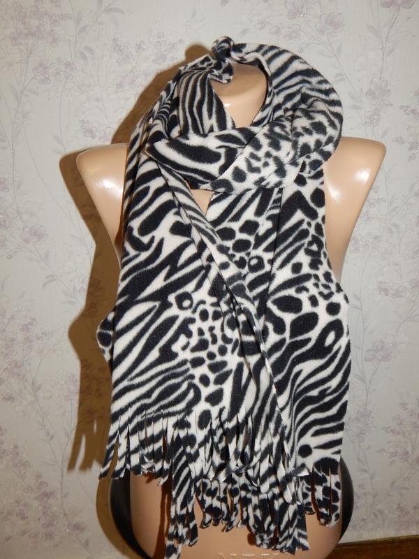 Плюшевый теплый женский леопардовый шарф