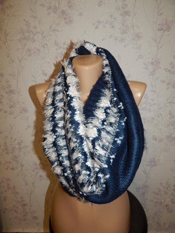 Нереально красивый шарф, хомут, снуд женский.