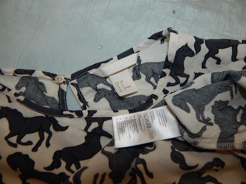 H&m блузка вискозная стильная модная р8 идёт на р10 - Фото 3