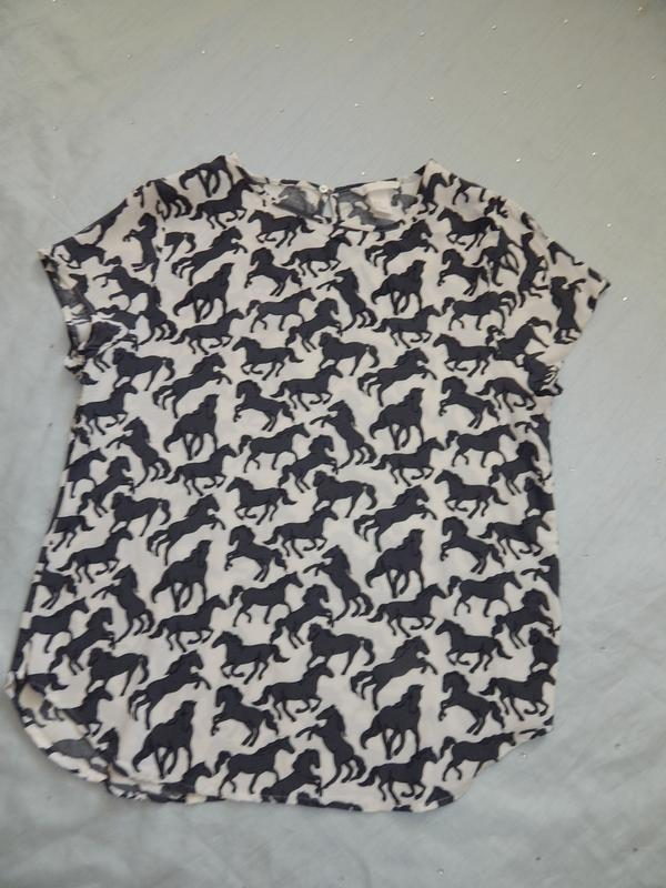 H&m блузка вискозная стильная модная р8 идёт на р10 - Фото 4