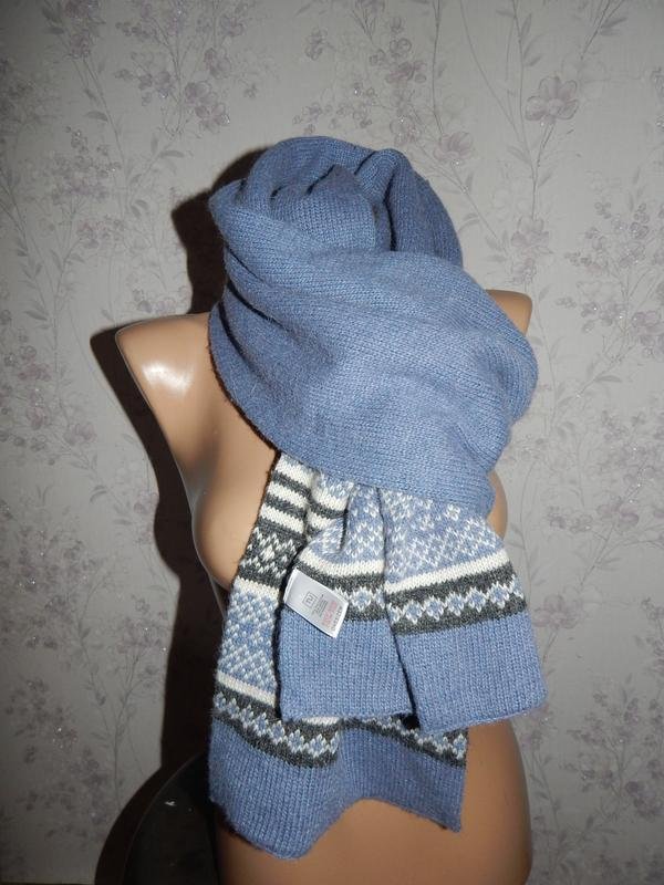 Tu шарф стильный модный тёплый вязаный