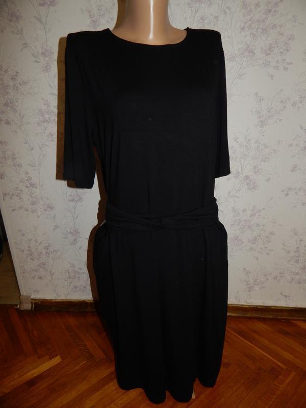 Warehouse платье трикотажное плотное р18 новое большой размер