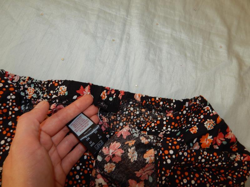 F&f юбка вискозная в цветах стильная модная р6 - Фото 3