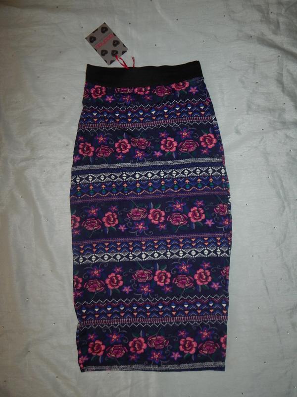 Boohoo юбка вискозная стильная модная р8 новая