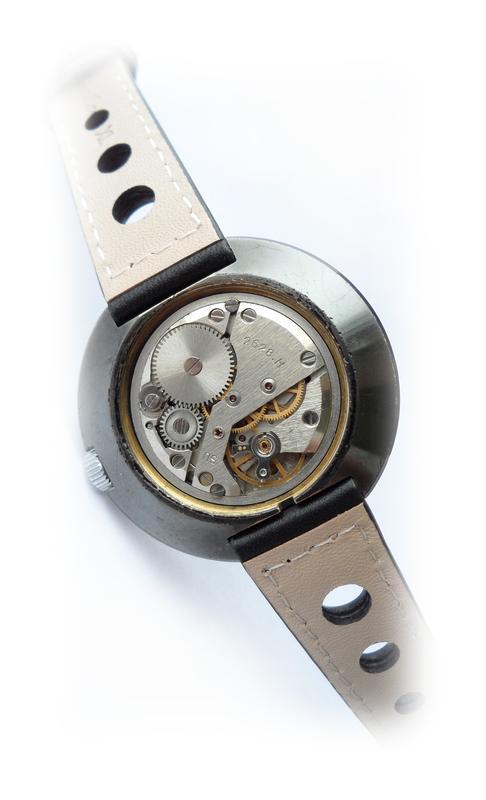РАКЕТА_ЧЁРНЫЙ ХРОМ, сделано СССР 70-х. большие мужские часы механ - Фото 3