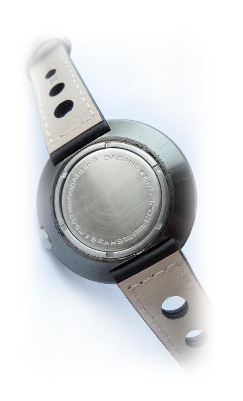 РАКЕТА_ЧЁРНЫЙ ХРОМ, сделано СССР 70-х. большие мужские часы механ - Фото 5