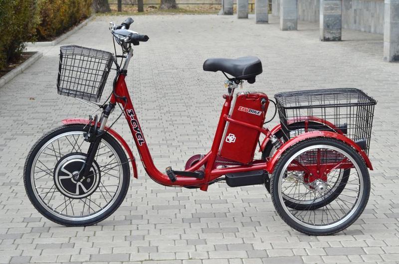 Электро-велосипед SKYBIKE 3-CYCL (350W-36V), красный