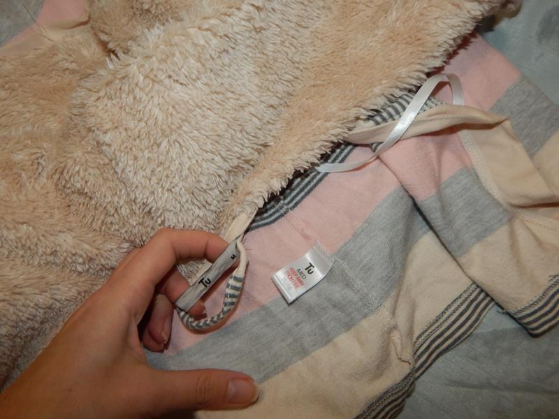Tu халат трикотажный плотный с капюшоном рм - Фото 3