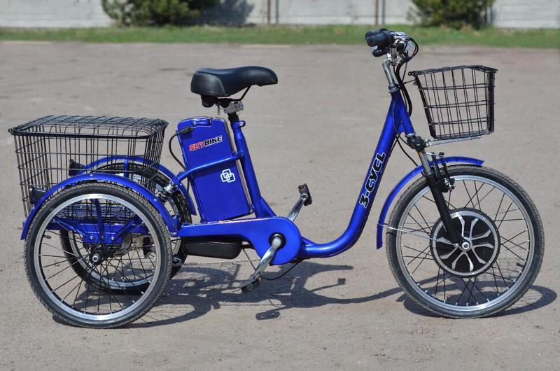 Электро-велосипед SKYBIKE 3-CYCL (350W-36V), синий