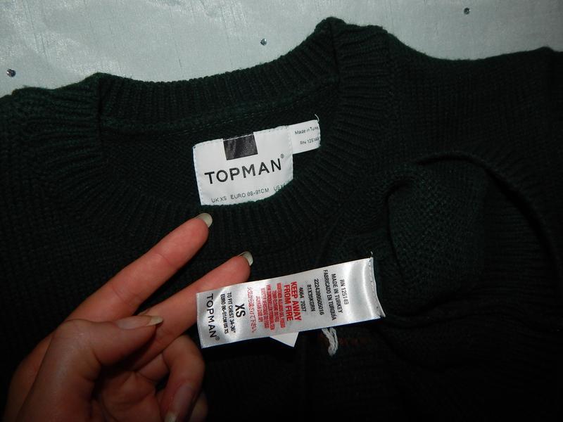 Topman свитер мужской новогодний с оленем рxs - Фото 2