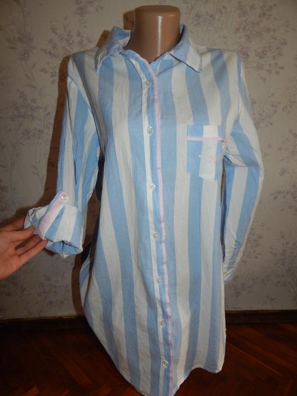 Love to lounge халат-рубашка батистовый рм 10-12