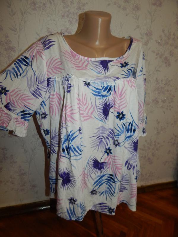 Marks&spencer блузка вискозная стильная, модная р16