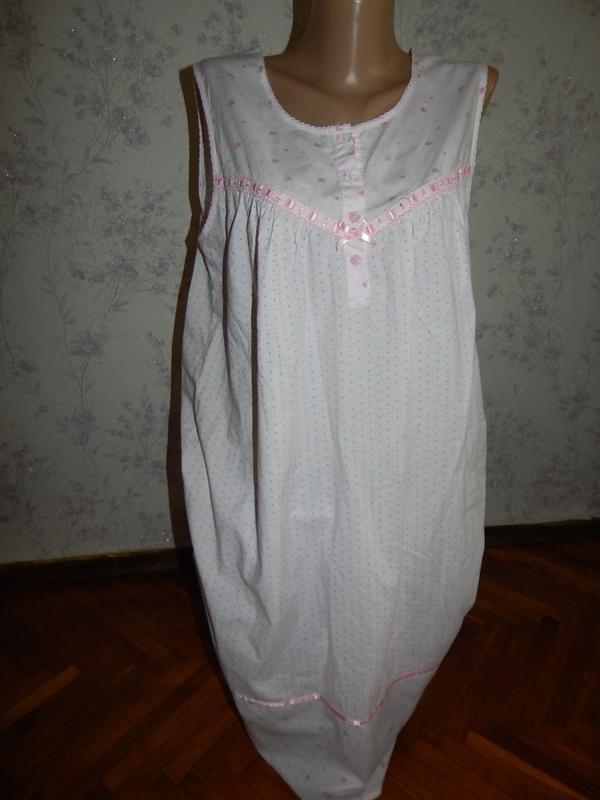 Bhs ночнушка батистовая, домашнее платьеце р12-14