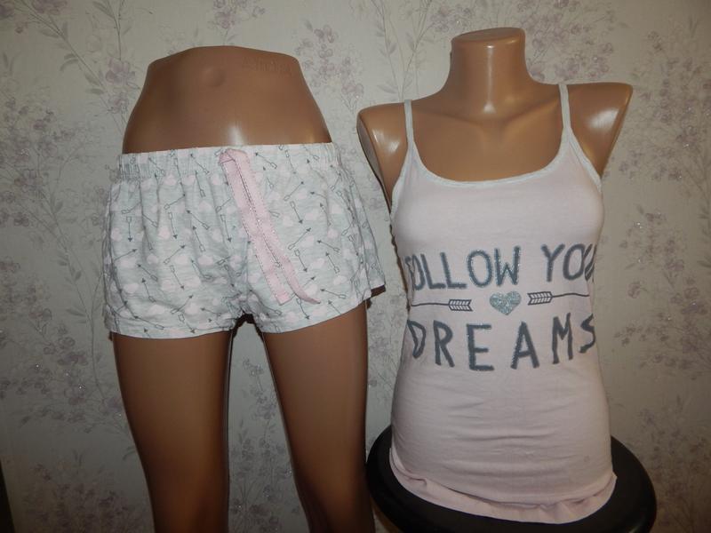 Love to lounge пижама трикотажная майка с шортиками рм 10-12