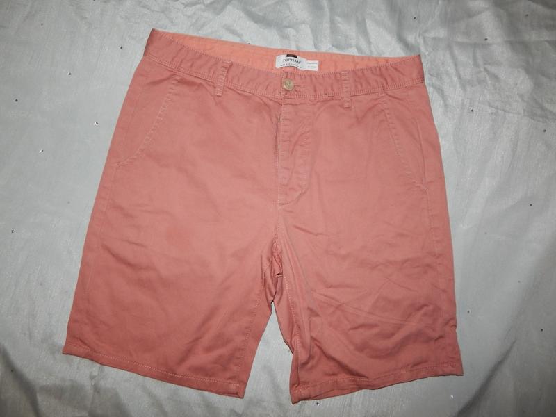 Topman шорты мужские стильные модные коралловые р32