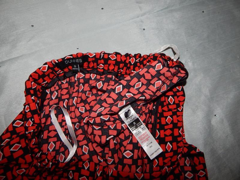Dunnes шорты-юбка стильные модные красные р8 - Фото 2