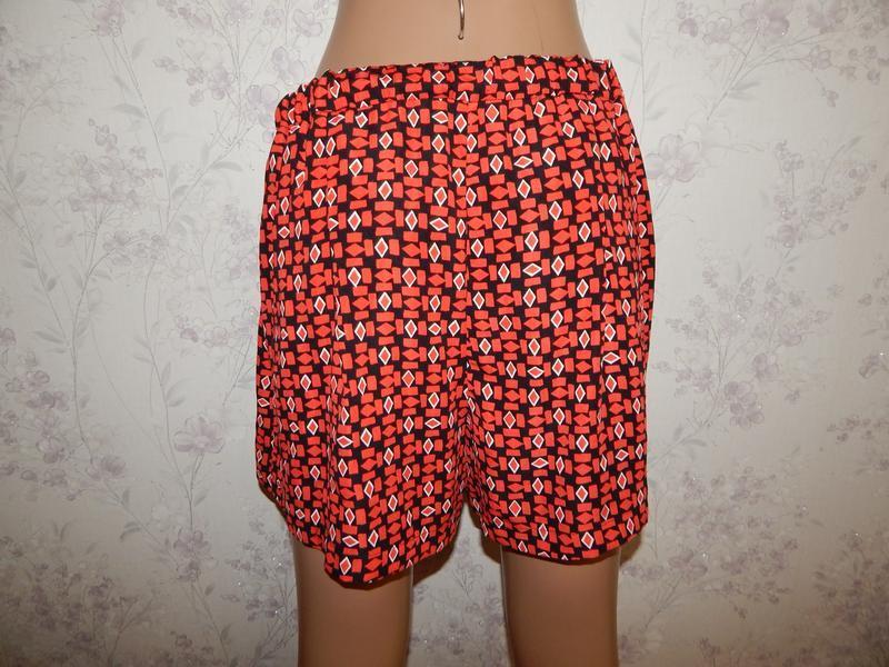 Dunnes шорты-юбка стильные модные красные р8 - Фото 3