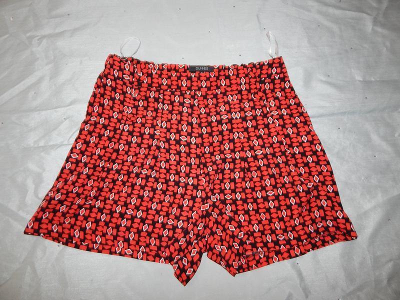 Dunnes шорты-юбка стильные модные красные р8 - Фото 4