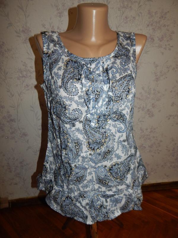 Marks&spencer блузка батистовая ультра тонкая стильная модная р8