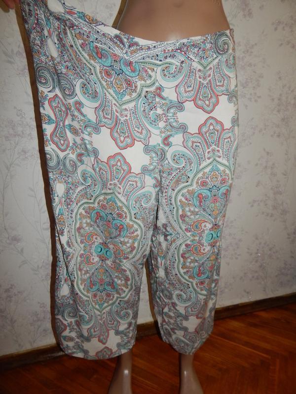 Marks&spencer брюки-кюлоты вискозные укороченные стильные модн...