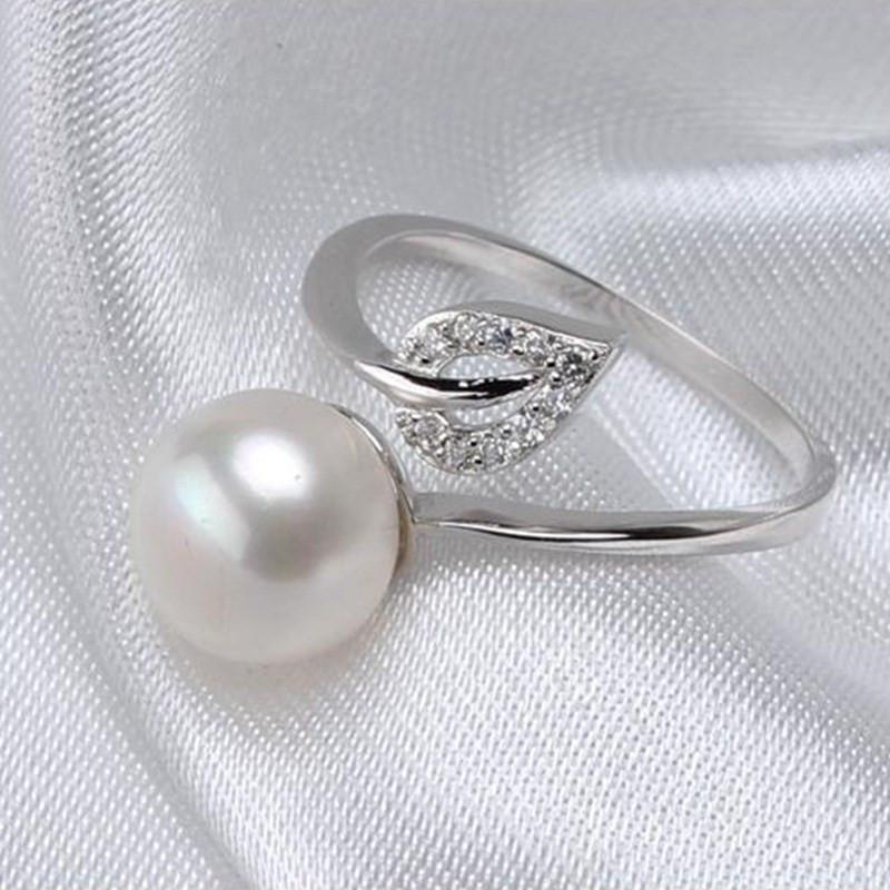 Кольцо с натур. жемчугом серебро 925