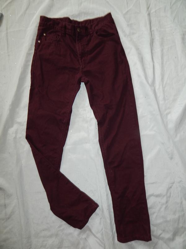 George джинсы на подростка 13-14 лет рост 158-164 см бордовые