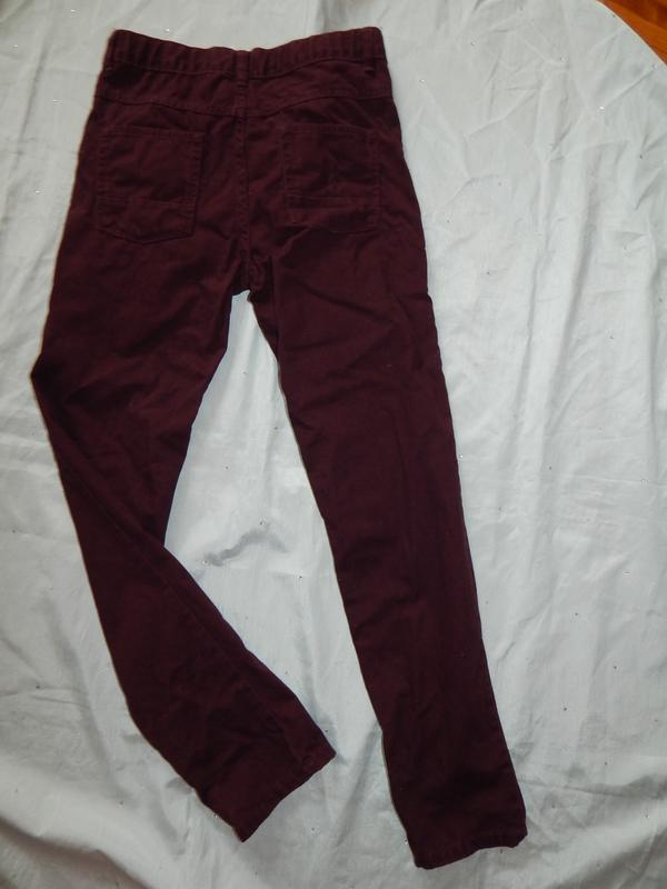 George джинсы на подростка 13-14 лет рост 158-164 см бордовые - Фото 2