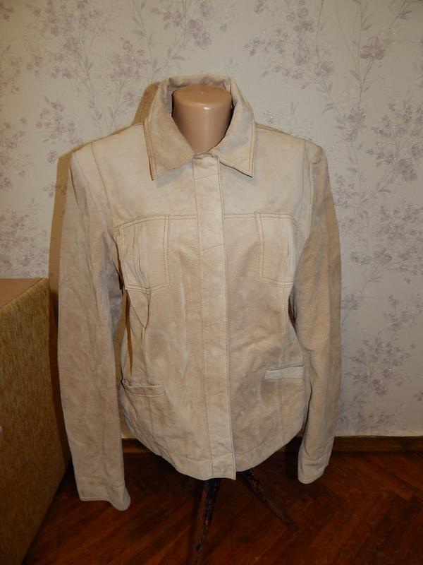Marks&spencer куртка замшевая стильная модная р14