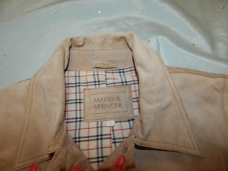 Marks&spencer куртка замшевая стильная модная р14 - Фото 3