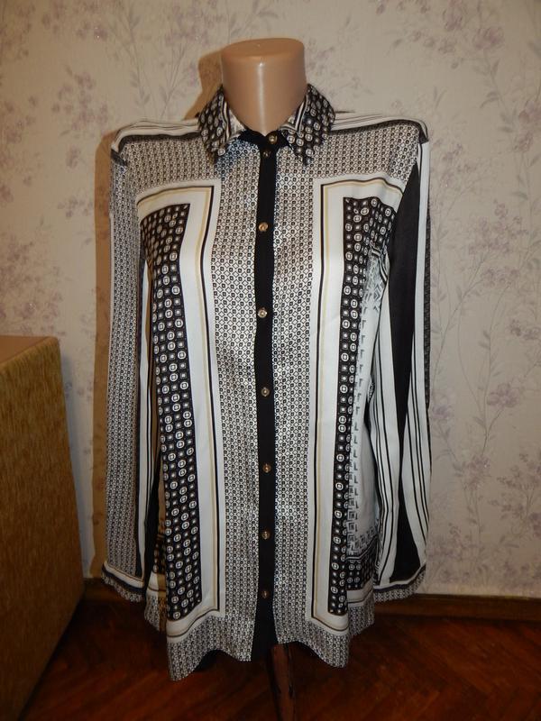 River island блузка атласная стильная модная р12
