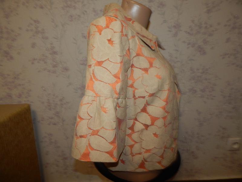 Wallis жакет гепюровый котоновый на подкладке стильный модный р8 - Фото 3