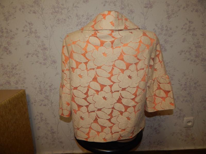 Wallis жакет гепюровый котоновый на подкладке стильный модный р8 - Фото 5