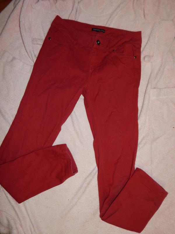 Fashion union джинсы узкие модные р 10