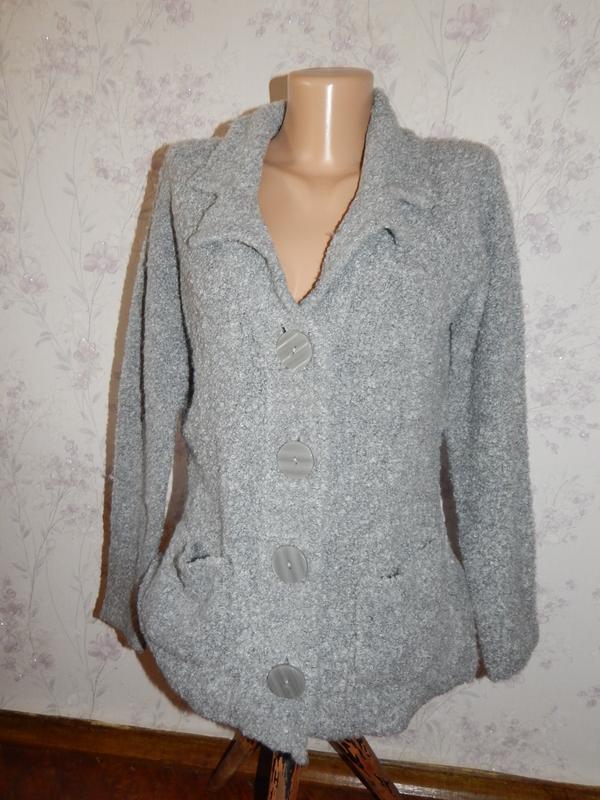 Ewm кофта на пуговицах кардиган стильный модный р 14-16
