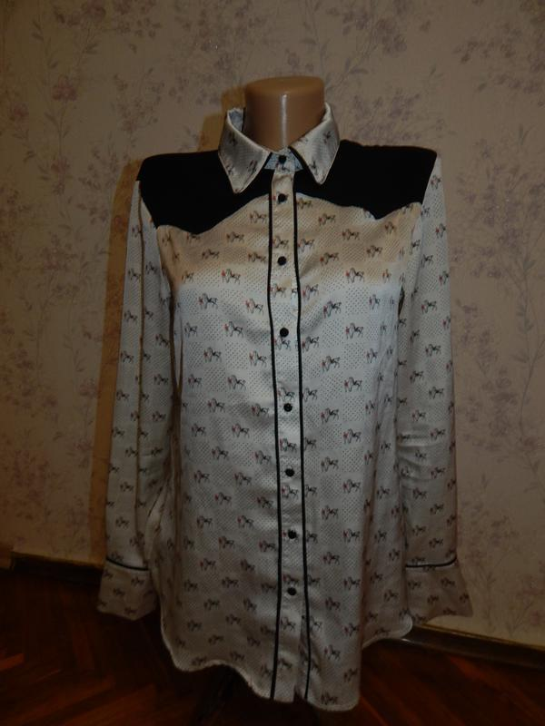 Zara блузка стильная модная р m