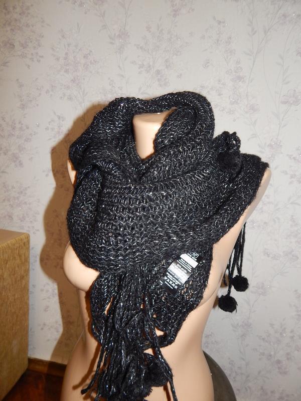 F&f шарф стильный модный вязаный тёплый
