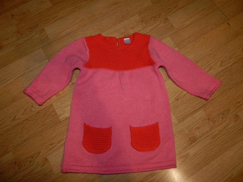 Платье-туника на малышку 9-12 мес