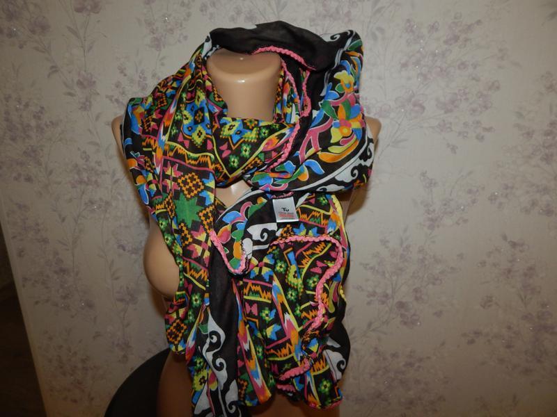 Tu шарф-парео стильный модный - Фото 2