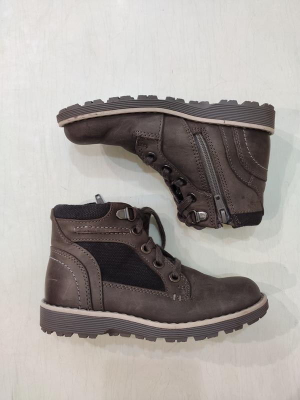 Clarks демисезонные кожаные ботинки