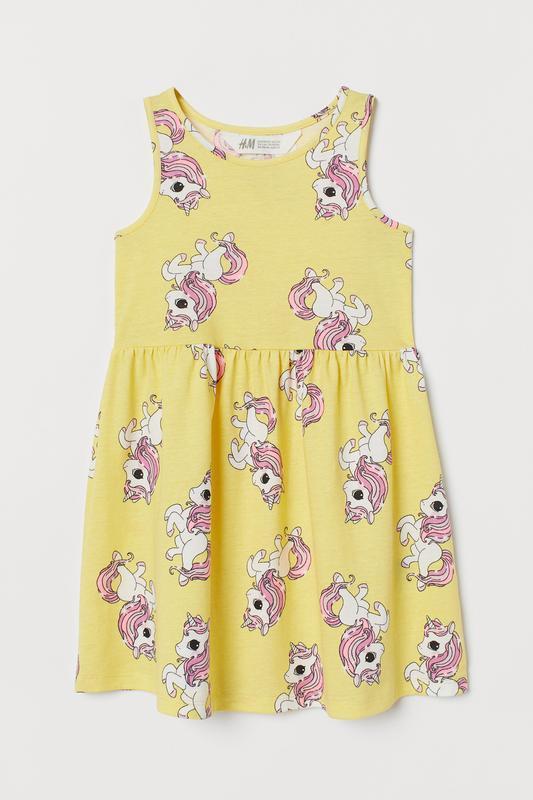 Платье единорог h&m
