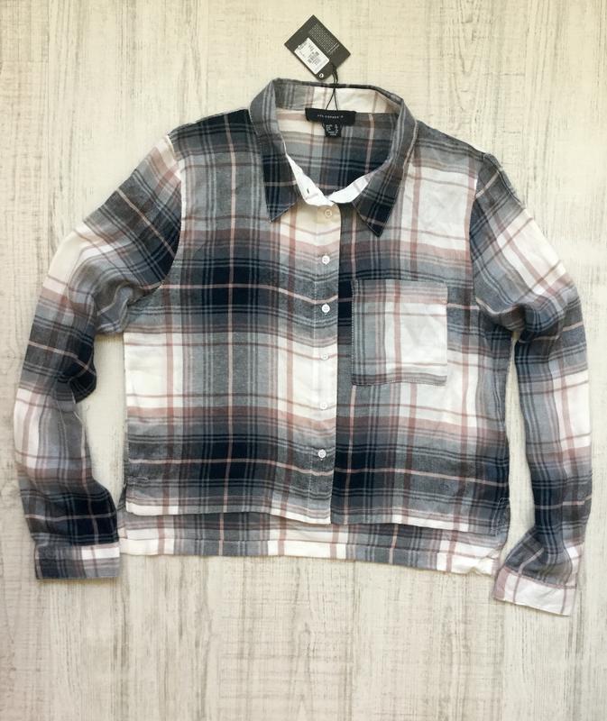 Рубашка в клктку вискоза