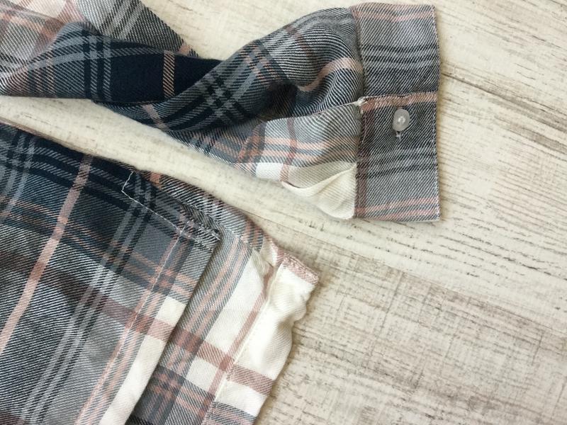 Рубашка в клктку вискоза - Фото 2