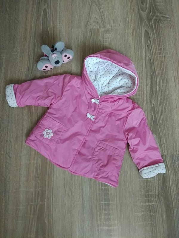 Демисезонная курточка на девочку 3-6 мес.