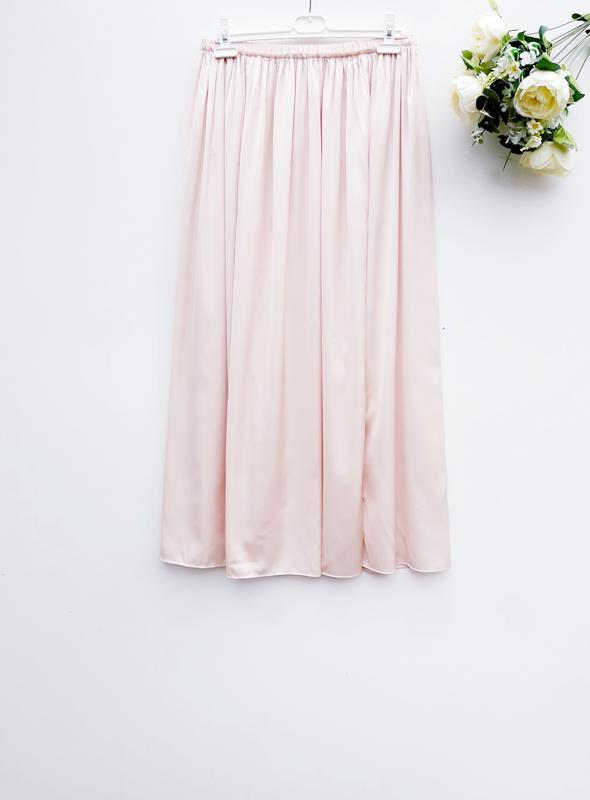Шикарная юбка миди с разрезами очень нежная юбка на резинке