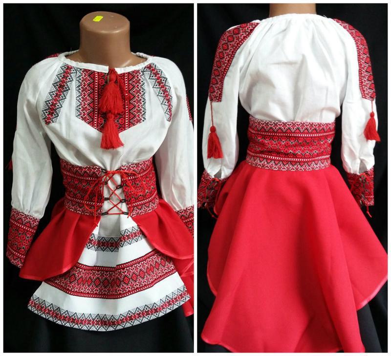 Костюм платье вышиванка