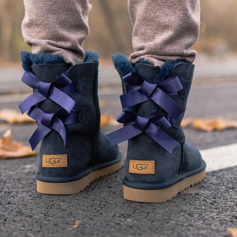 Ugg bailey bow 2! женские замшевые зимние угги/ сапоги/ ботинк...