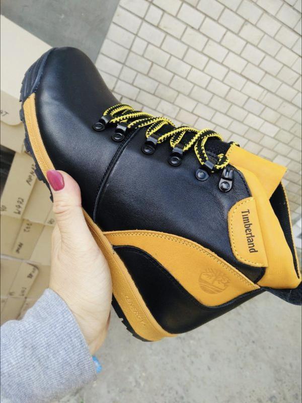 Подростковые зимние ботинки {натуральная кожа}