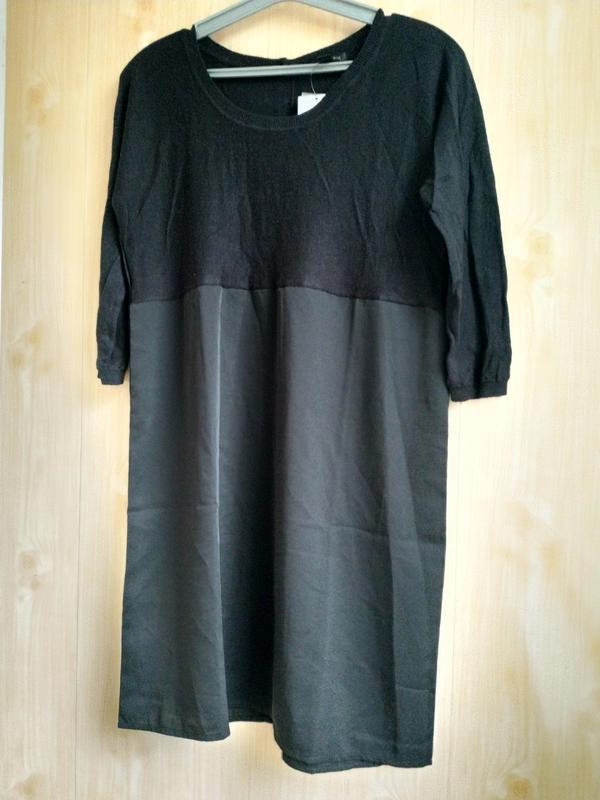 Короткое комбинированное платье черного цвета